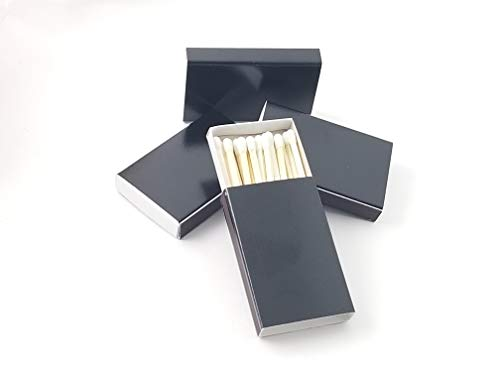- Party Favors Plus 50 Plain Black Cover Wooden Matches Box Matches