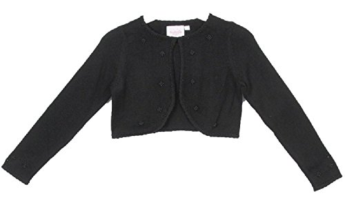 - Classy 3010 Black Pearl Beaded Sweater for Girl - Size XL (12-14)