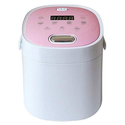コンパクト多機能炊飯器 2合炊き 7種類の調理メニュー機能搭載 小型 炊飯器 おしゃれ (ピンク)
