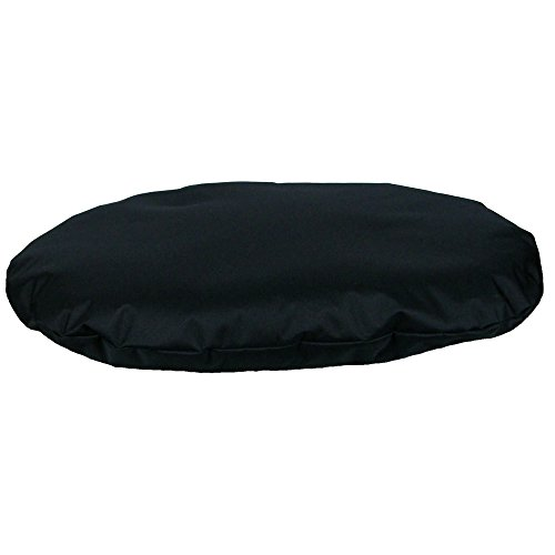 P&L Superior Country Dog Heavy Duty Waterproof Dog Oval Cushion (Large) (Black) by P&L Superior