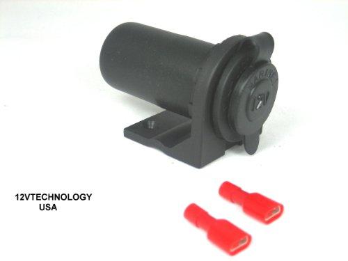 Lighter Socket Power Outlet Recepticle Mount 12 Volt Marine, Motorcycle #Cs+/rlmnt (12v Cs Mount)