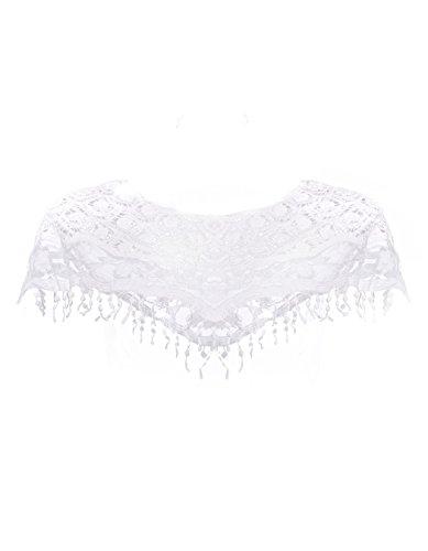 Nice Kize Women Hollow Out Lace Crochet Knit Cape Jumper Tank Top Vest Pullover Shawl Tee hot sale