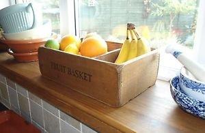 Fruit Basket/Bowl,Kitchen,Wooden,Size Medium,Stencil Fruit Basket.