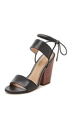 Splendid Women's Kenya Chunky Heel Sandals, Black, 7.5 B(M) US