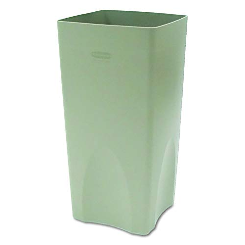 Rubbermaid Commercial 356300BGCT Plaza Waste Container Rigid Liner, Square, Plastic, 19gal, Beige (Case of 4) (Renewed)