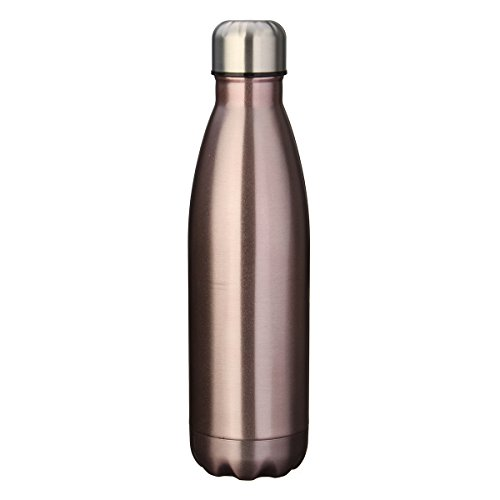 KINGSO 17oz Double Wall Vacuum Insulated Stainless Steel Water Bottle Perfect for Outdoor Sports Camping Hiking Cycling Rose Gold