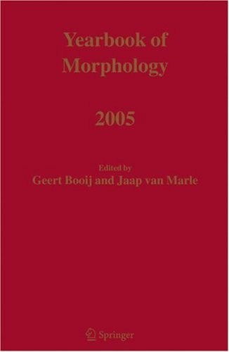 Download Yearbook of Morphology 2005 Pdf