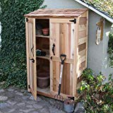 Outdoor Living Today 4' x 2' Cedar Garden Storage Shed - Cedar Outdoor Sheds