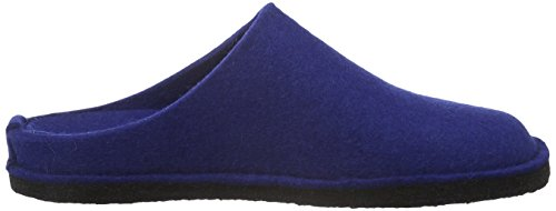 Haflinger Unisex-adult Flair Zachte Slippers Blauw (pacific 71)
