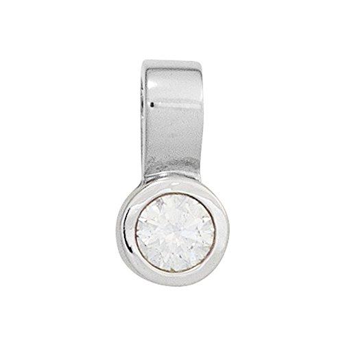 JOBO pendentif en or blanc 585 1 diamant taille brillant 0,25ct.