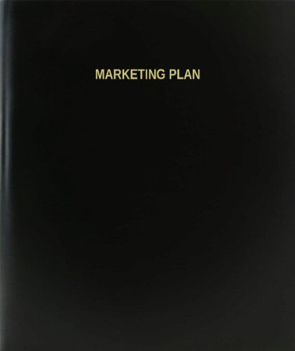 BookFactory® Marketing Plan Log Book / Journal / Logbook - 120 Page, 8.5''x11'', Black Hardbound (XLog-120-7CS-A-L-Black(Marketing Plan Log Book)) by BookFactory