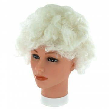 Halloween Fancy Dress Glow In The Dark White Party Wig (Deluxe Red Hair Spray)