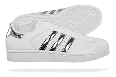 Adidas Superstar Womens White And Silver