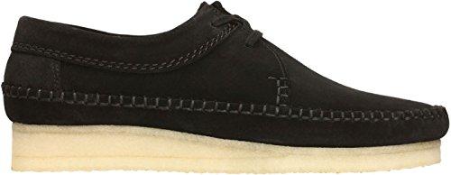 Clarks - Mens Weaver Shoe, Size: 10.5 D(M) US, Color: Black Suede