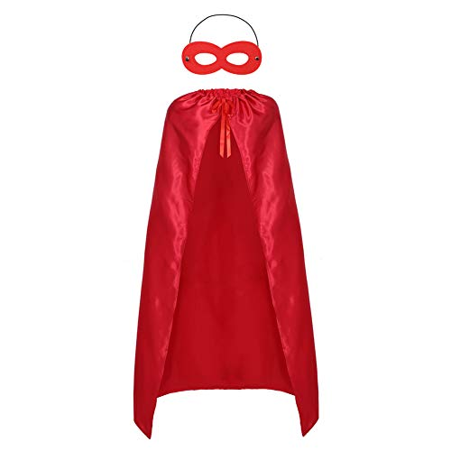 Adults Superhero Capes and Mask Set - Men & Women Cosplay Fancy Cloak-DIY Dress Up Halloween Costume Red for $<!--$6.99-->