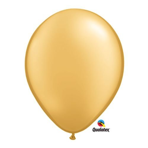 Qualatex Metallic Gold (Opaque) Biodegradable Latex Balloons, 11-Inch (25-Units)