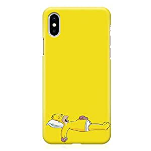 Loud Universe Lazy Donut Homer Simpsons iPhone XS Max Case Yellow Nap Homer iPhone XS Max Cover with 3d Wrap around Edges
