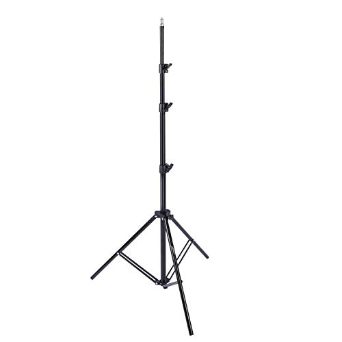 (Neewer Aluminum Light Photography Tripod Stand Light Stand, 2.7-8.5 feet/85-260 Centimeters Adjustable Stand Heavy Duty for Reflectors, Lights, Umbrellas with Max. 11 pounds Load Capacity)