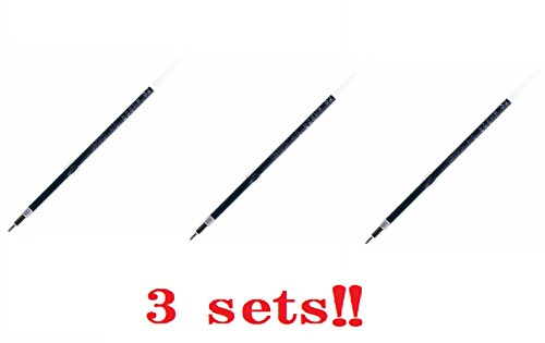 - Ohto 897NP Needlepoint Ballpoint Refill 0.7 mm Black (3 sets!!) from Japan