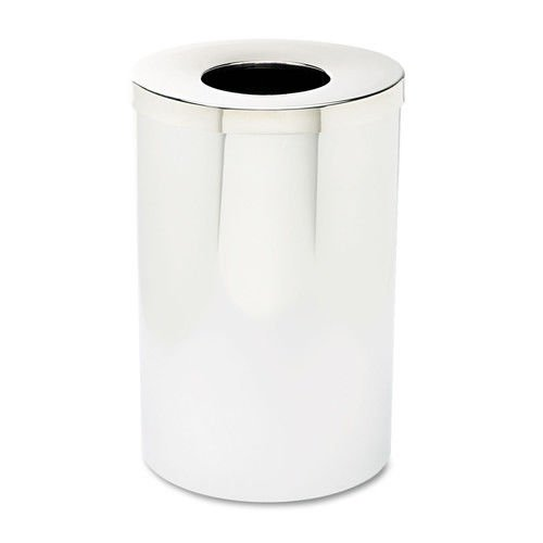 Safco 9695 Reflections Open-Top Receptacle, Round, Steel, 35gal, (35 Gal Open Top Receptacle)