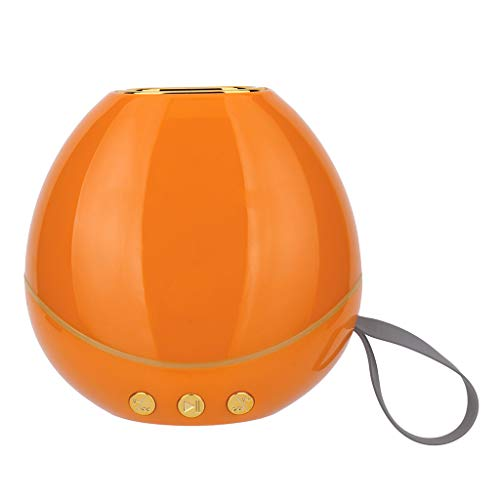 Mbtaua-Sound HiFi Portable Wireless Bluetooth, Stereo FM Sound with SD Card Slot FM USB Subwoofer Speaker Lighting Lamp Orange