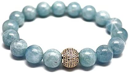 Aquamarine Bracelet Solid Bracelet Solid Power Bracelet for Power Women unique exclusive Jewelry March Birthstone Luxury Gift for Her