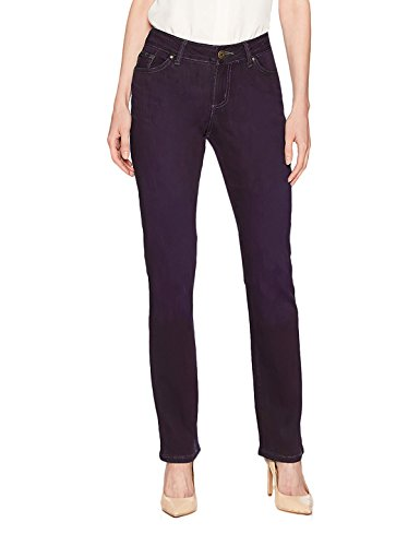 LEE Misses Platinum Label Curvy Fit Straight Leg Pant, Regal, Size 12 Medium ()