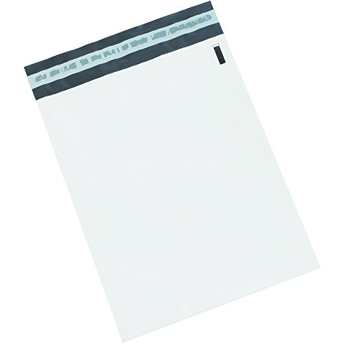 BOX USA BB879100PK Poly Mailers, 14'' x 17'', White (Pack of 100) by BOX USA