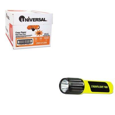 KITLGT68244UNV21200 - Value Kit - Streamlight Inc ProPolymer C4 Lux LED Flashlight (LGT68244) and Universal Copy Paper (UNV21200)