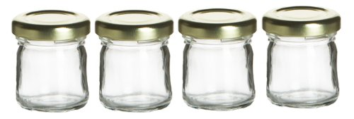 Cafe Cubano® Small Mini Glass Jar with Lids - Perfect