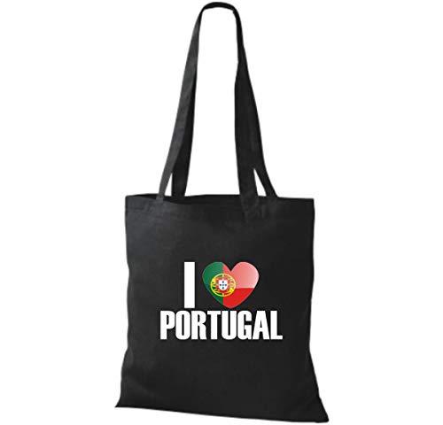 Pays Coton Noir Love Sac Pays En I Tissu Portugal 6Kw6xEqY8