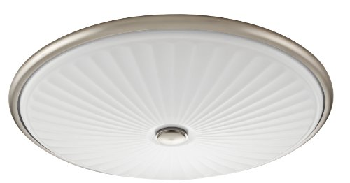 - Lithonia Lighting FMDCGL 16 20830 BN M4  17-Inch 3000K LED Flush Mount with Patterned Acrylic Diffuser, Brushed Nickel