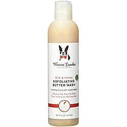 Warren London Grooming Products Exfoliating Butter Wash Dog Shampoo with Jojoba Beads to Help Moisturize Skin and Coat - Milk & Honey