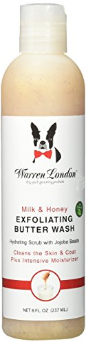 Warren London - Exfoliating Butter Wash and Hydrating Scrub for Dogs with Jojoba Beads to Help Moisturize Skin and Coat - Milk & Honey -