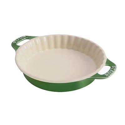 Staub Pie Dish, Basil, 1.3 qt. - Basil