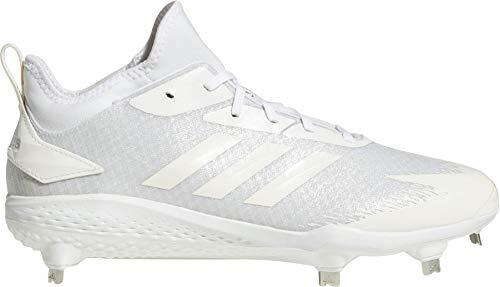 (adidas Men's Adizero Afterburner V Dipped Metal Baseball Cleats, (White, 9.5 D(M) US))