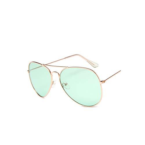 SYBYA Ocean Sunglasses For Women Brand Metal Yellow Sun Glasses Pink Lens Sun Glasses NEW Fashion GOLD ()
