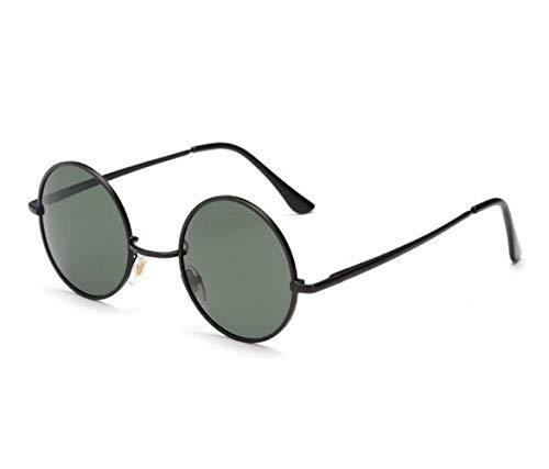 polarizadas Black los de de para la sol viajar protección UV400 que conduce Gafas Marco unisex clásico de gafas del redondo estilo hombres Xqrqd1