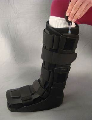 MediChoice Air Shell Ankle Walker, Lightweight, Low Profile, High-Top w/ Socks, Large to XL, 1314OSG6023 (Case of 6)