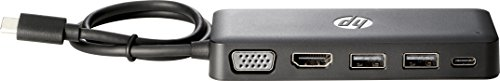 HP Z9G82AA Travel Hub - Port replicator - (USB-C) - for Chromebook 13 G1, EliteBook x360, Pro x2, Spectre Pro 13 G1, ZBook 15 G4, 17 G4, Studio G4