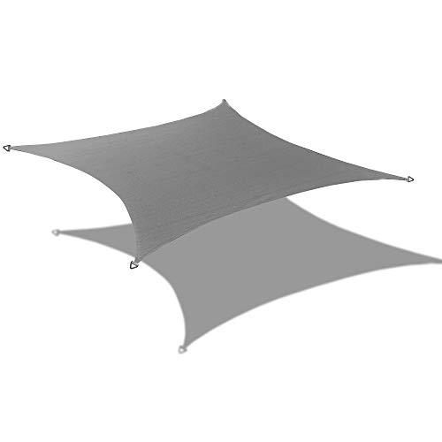 Alion Home 9.5' x 11' Rectangle PU Waterproof Woven Sun Shade Sail (1, Grey)