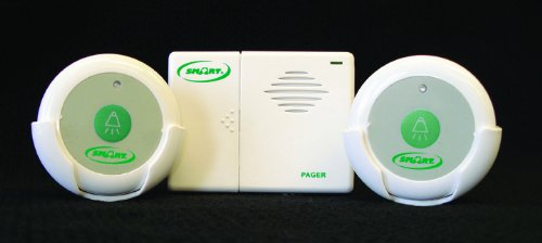 Smart Caregiver Two Call Buttons & Wireless Caregiver Pager - Paging System For Office
