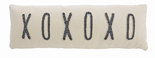 Mud Pie Washed Canvas XOXOXO Long Pillow 4163015