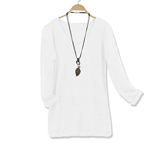 Cenglings Woman V Neck Loose Long Sleeve Casual Blouse with Pure Color Set Head Fleece Blouse
