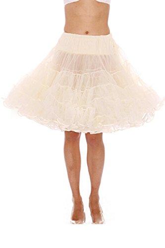Vintage Blanc Petticoat Longueur 50 Annes Dressvip 50cm Jupon Rockabilly Multicouche tqpn4P