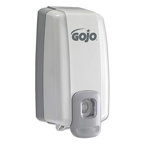 GOJO NXT SPACE SAVER Push-Style Dispenser, Dove Grey, Dispenser for GOJO NXT 1000 mL Lotion/Shower Soap and Lotion Refills - 2130-06 ()