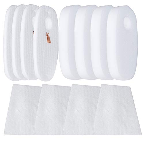 HIFROM Replacement Foam & Filter Kit for Shark Rocket DeluxePro HV319Q, HV320, HV320W, HV321, HV324Q and Shark Rocket TruePet HV322,Parts #1080FTV320 1084FTV320,Post-Motor & Pre-Motor Filter (4 Pack)