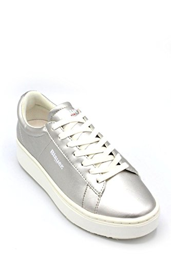 BLAUER SHOES 8SMELLS01/LAM Sneakers Femmes Argent NCD7cTB