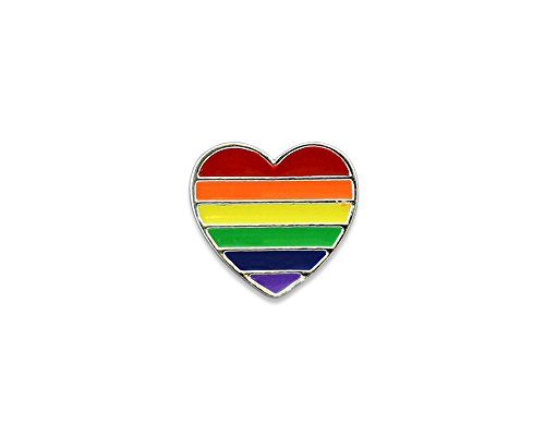 Fundraising For A Cause 25 Pack LGBTQ-Gay Pride Rainbow Heart Pins (25 Pins in a Bag) ()