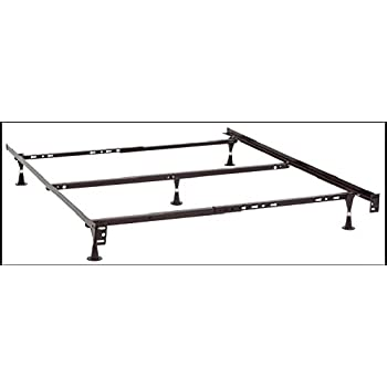 kings brand furniture 7 leg adjustable metal bed frame with center support rug rollers and locking wheels for queenfullfull xltwintwin xl beds
